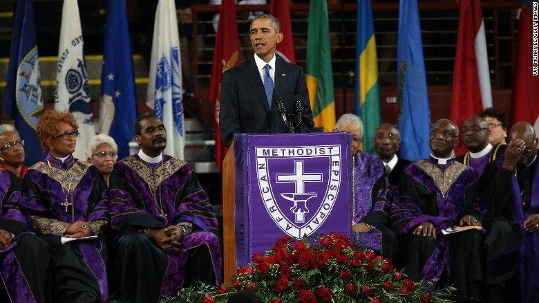 Obama A.M.E. appearance