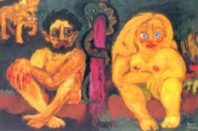 Adam and Eve painting by Emile Nolde is another example of degenerative art that was banned by Adolf Hitler.