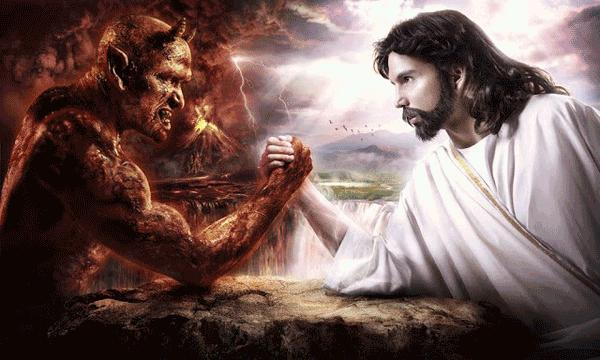 The perfect dialectic: Satan vs. God, thesis and antithesis, the dualism of pagan religions.