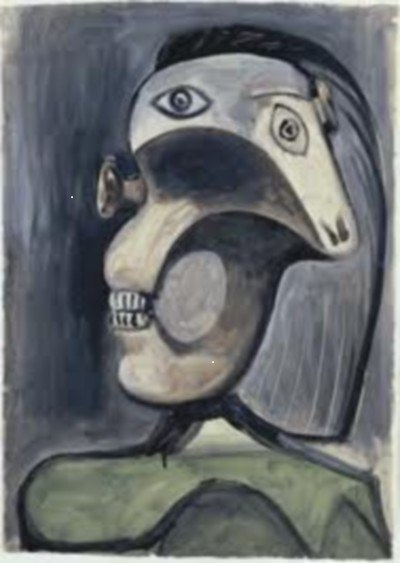 Painting by Pablo Picasso.  An example of what Adolf Hitler banned in Germany.
