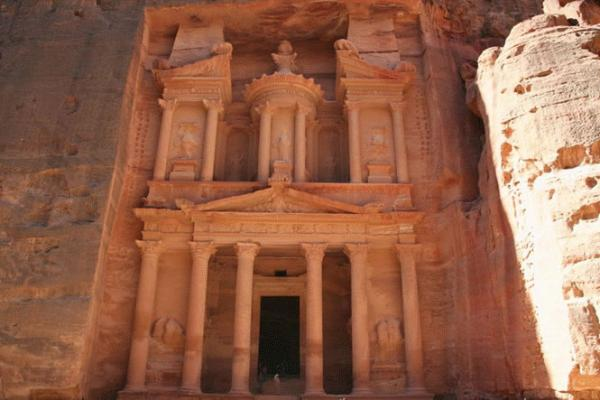Treasury of the Pharaoh in the ancient city of Petra