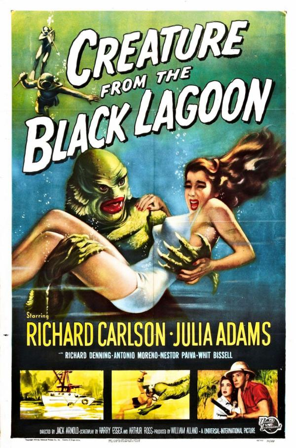 Notice in the old-time movie poster, the monster is the color of money (green) with blood-red lips and in his clutches is a White woman terrorized.