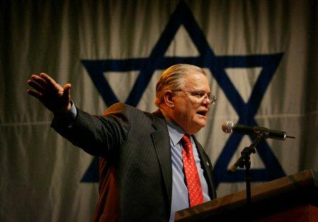 Hagee and his unclean ilk of war mongers get an extra scoop of pig slop for advocating the IsraeLIE, the antichrists of history and now the bombing of Iran