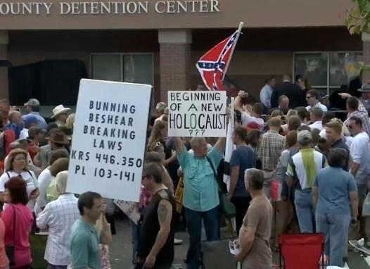 Some signs at the Kim Davis rally Sept 8, 2015