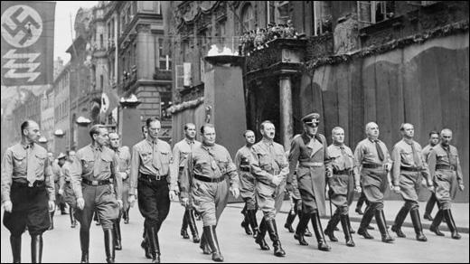 March to the 1923 meeting in Beer Hall Putsch
