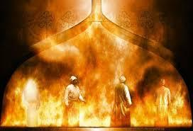 Meshach Shadrach and Abednego in the fire