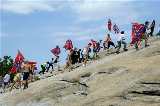 Stone Mountain, GA was the venue for 1000 Georgians to pay homage to their Southern heritage in a pro-Confederate flag rally in 2015. The media whores (scribes) did not report on this rally.